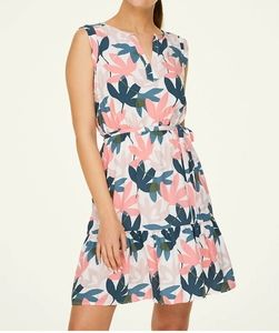 LOFT Floral Flounce Dress